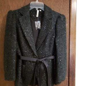 Robbi and Nikki dressy sequin black jacket